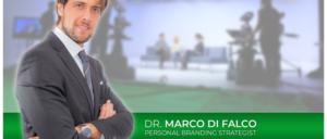 Marco Di Falco in primo piano sulla locandina di telelombardia